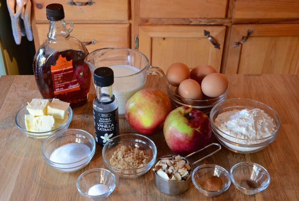 Ingredients for Puffed Apple Pancake