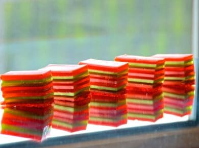 Layered Jello Dessert