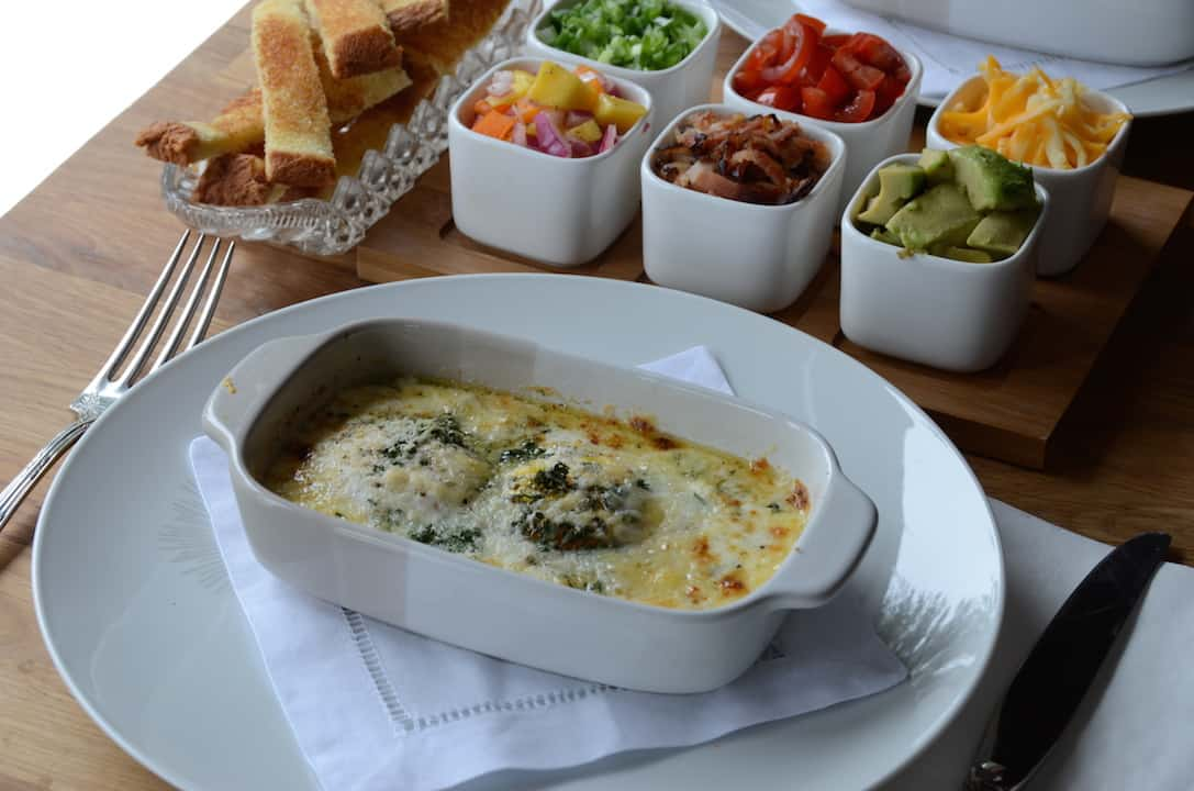 Baked Eggs With Tasty Toppings