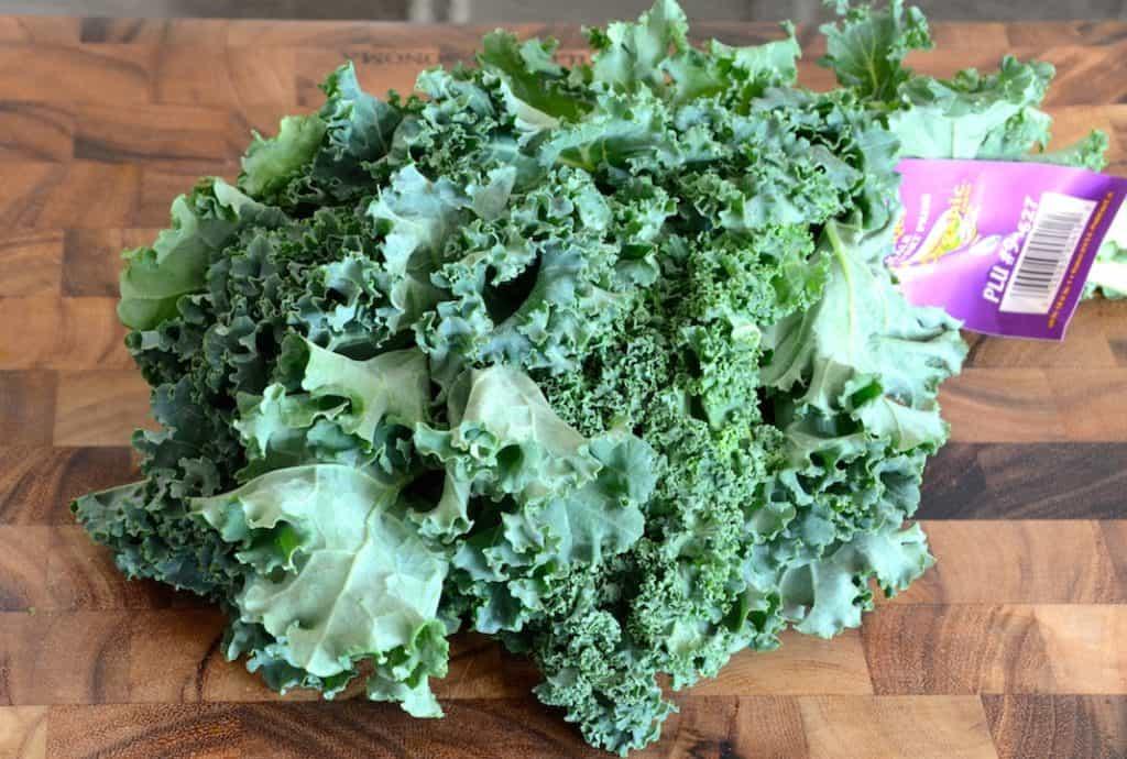 A bunch of fresh kale.