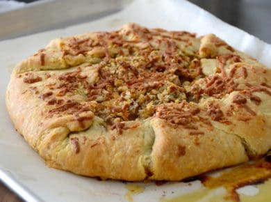 Caramelized Onion Tart with Manchego & Walnuts