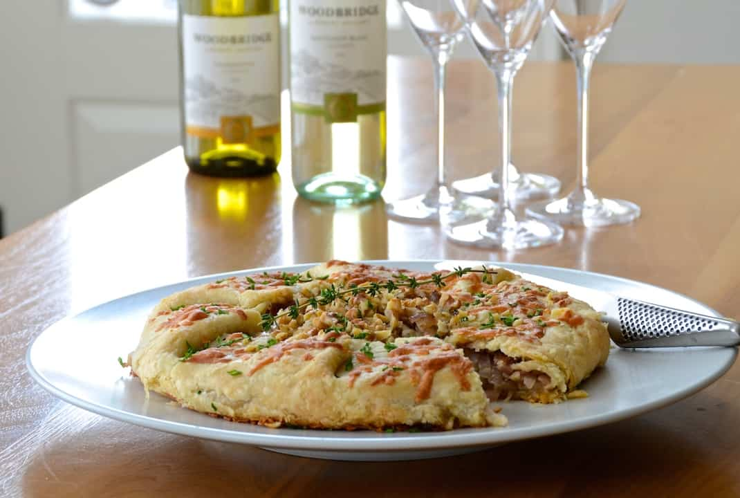 Caramelized Onion Tart with Manchego