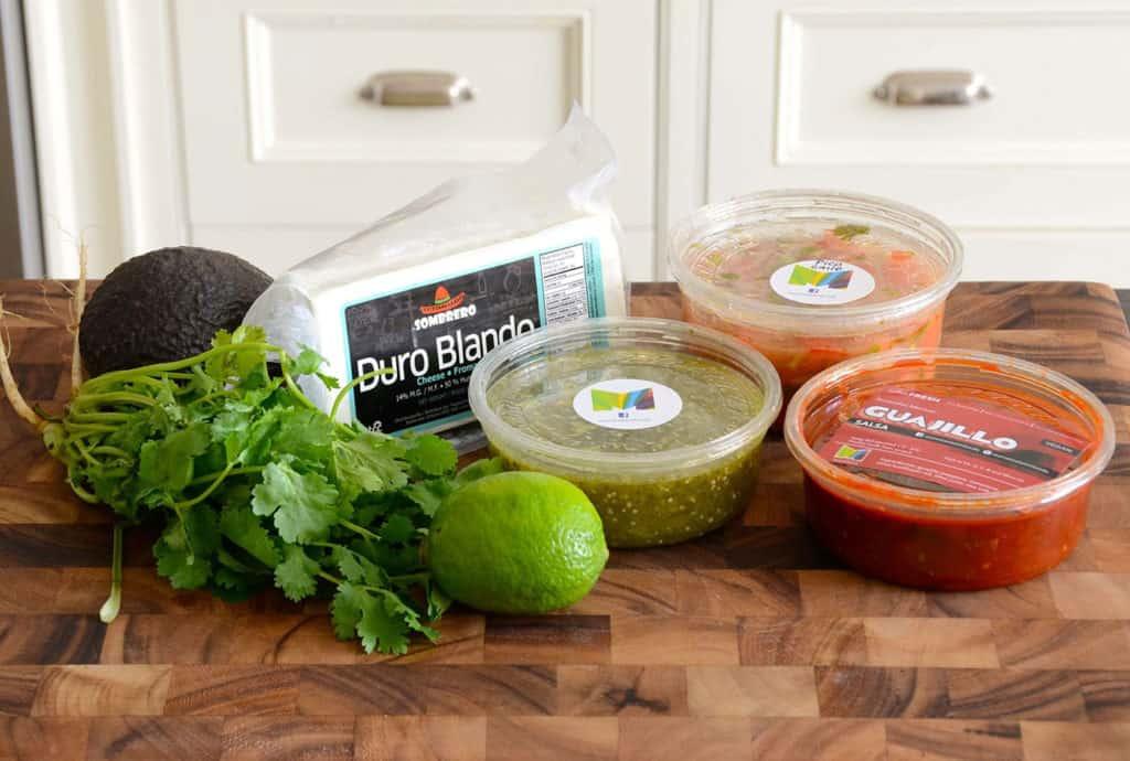 Assorted salsas and pico de gallo