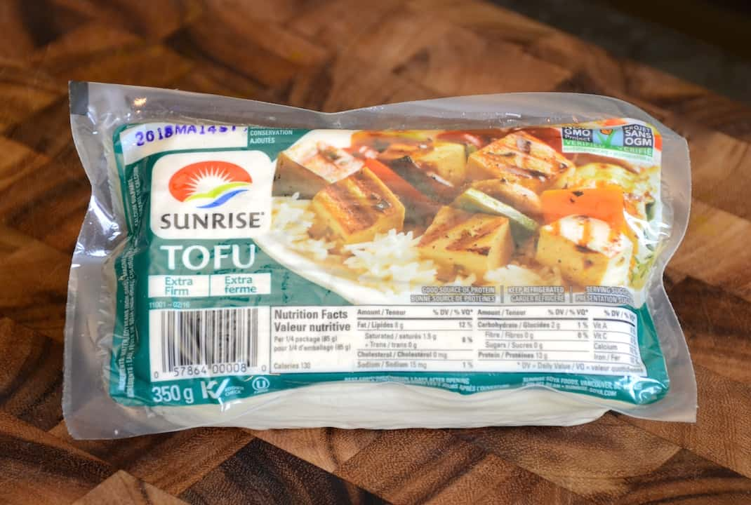 Firm tofu is a nice addition to the salad rolls