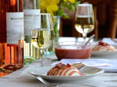 Panna Cotta with Rhubarb and White Zinfandel Sauce