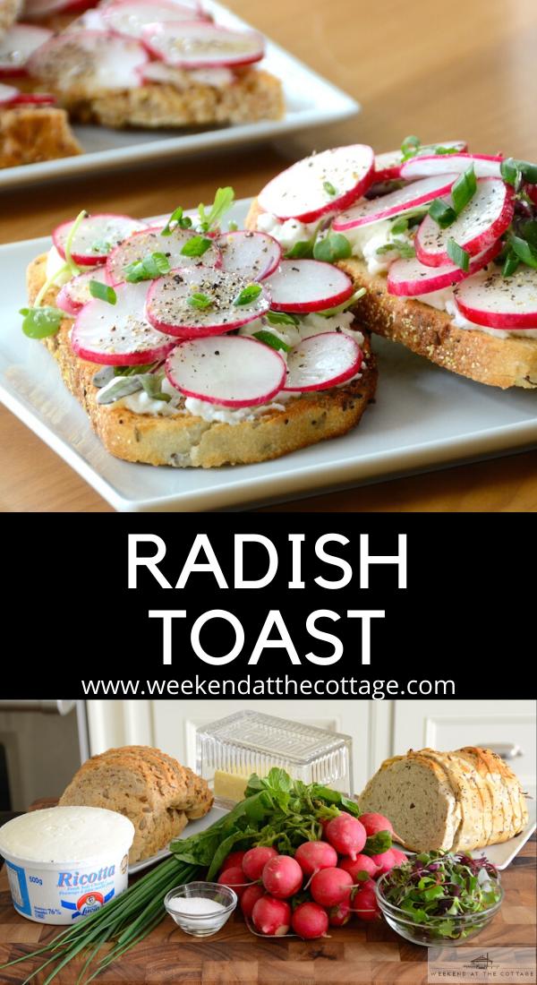 Radish Toast