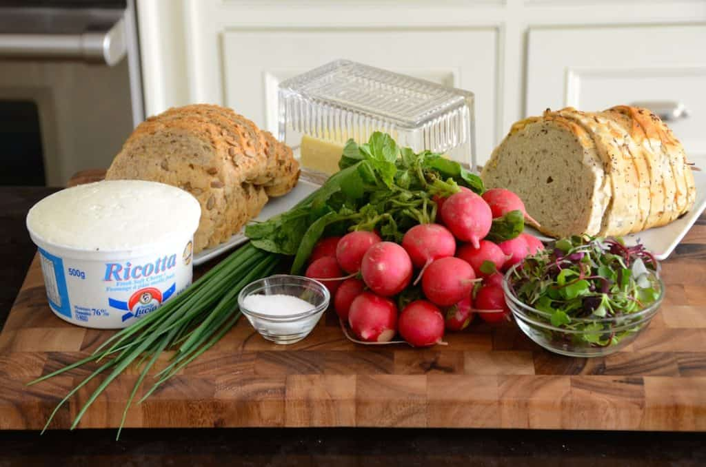 Ingredients for Radish Toast