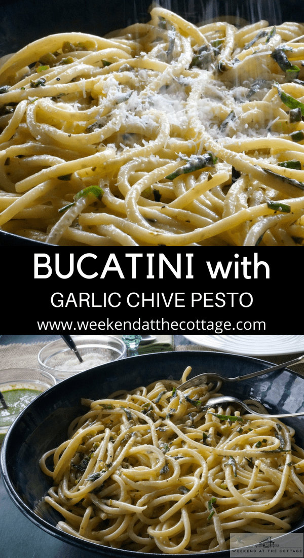 Bucatini with Lemon Pesto Sauce