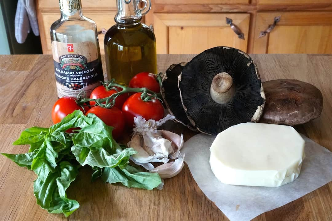 Ingredients for The Italian Job Burger