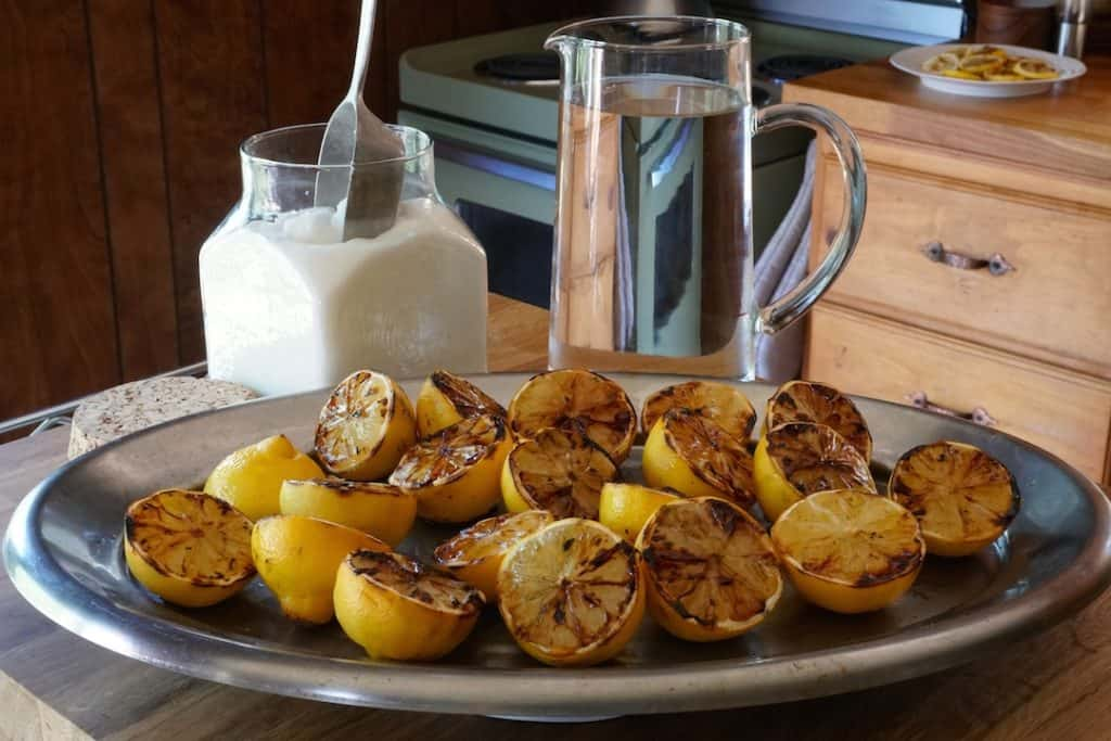 Grilled Lemons cooled after grilling
