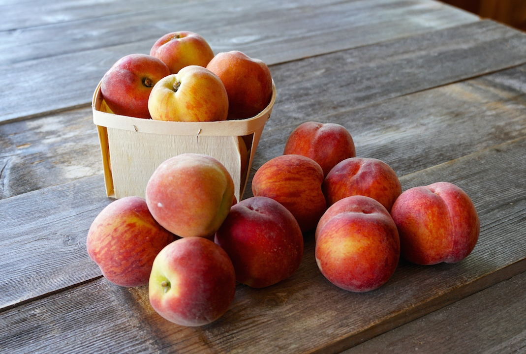 Freshly picked peaches for the cobbler
