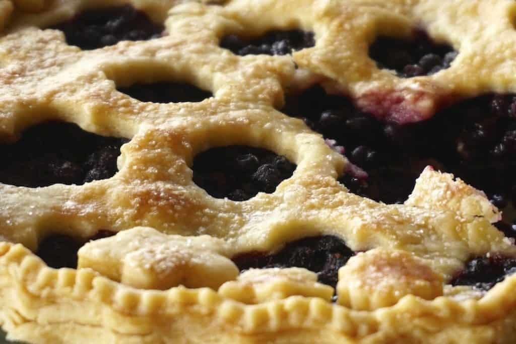 Freshly baked Wild Blueberry Pie