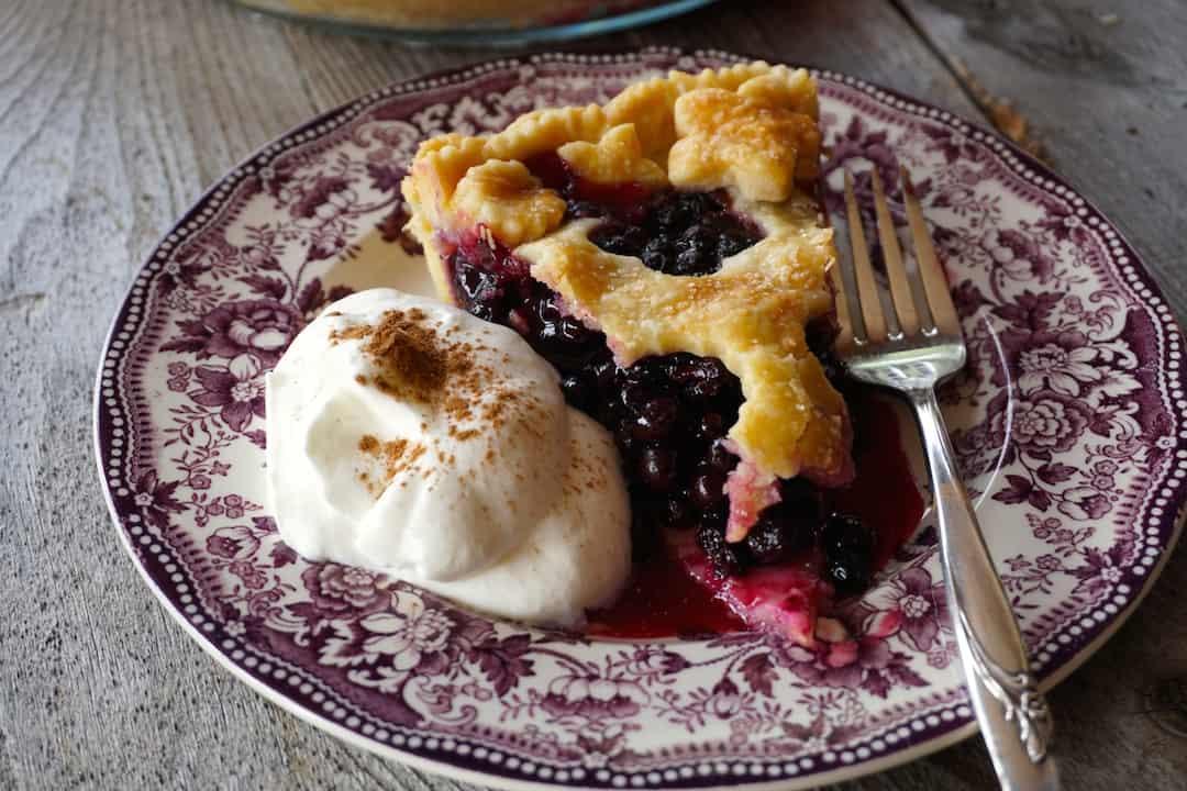 Wild Blueberry Pie