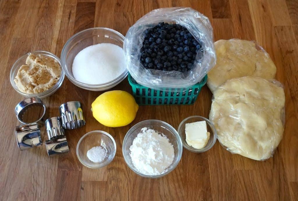 Ingredients for Wild Blueberry Pie
