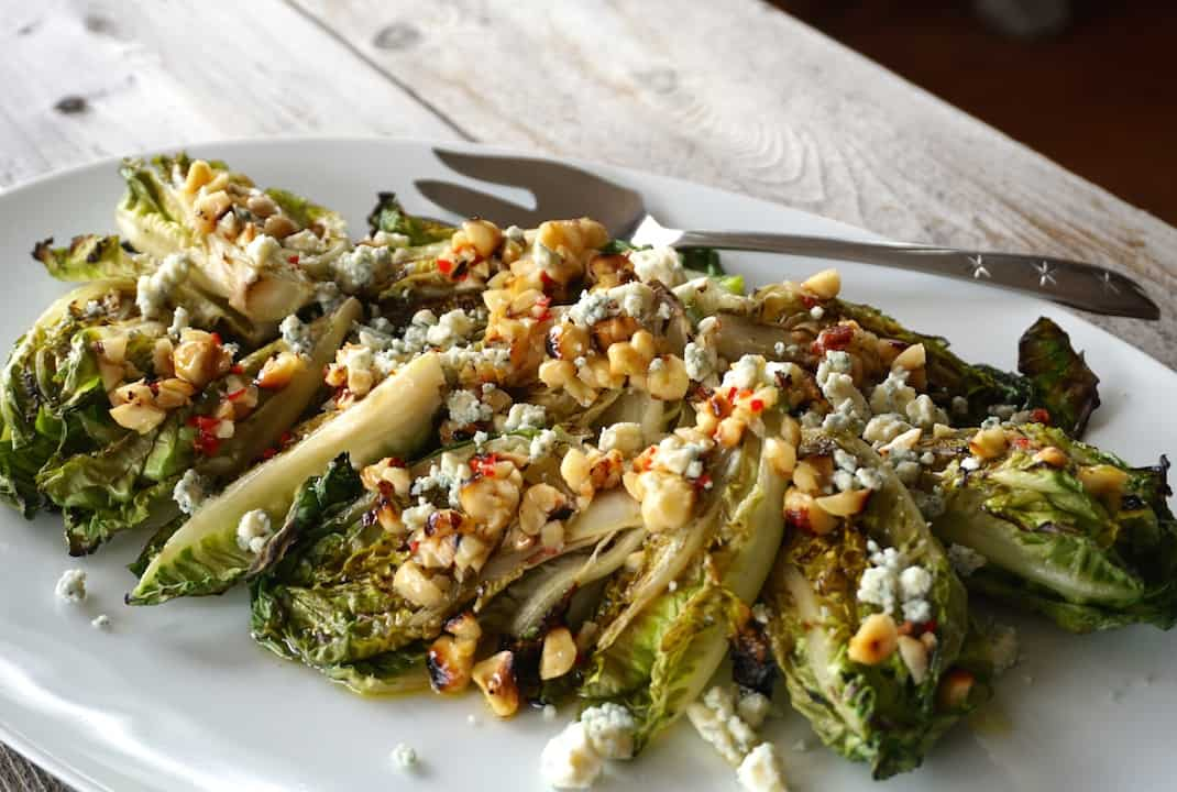 Grilled Baby Romaine Salad