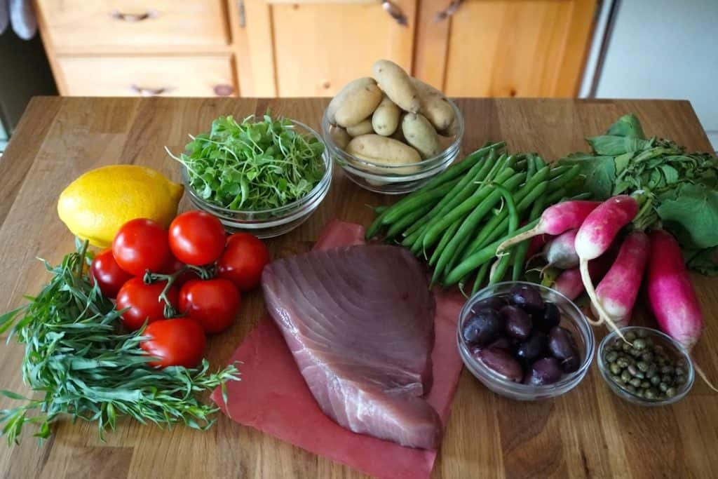 Ingredients for Grilled Tuna Salad