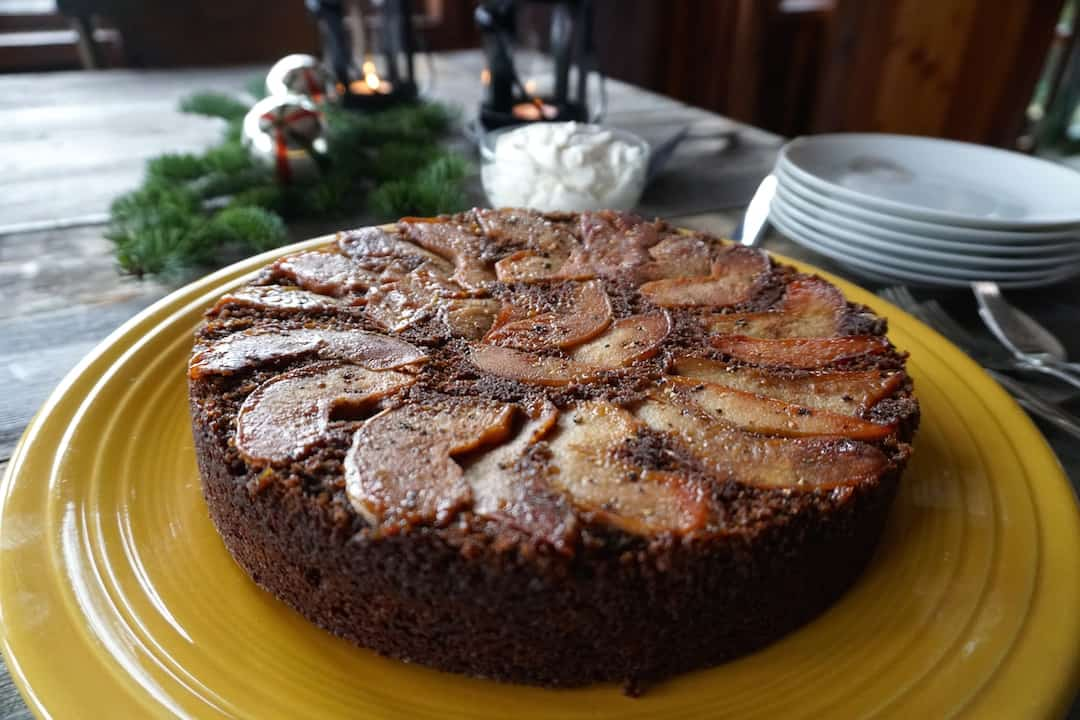 Quince Gingerbread Upside-Down Cake