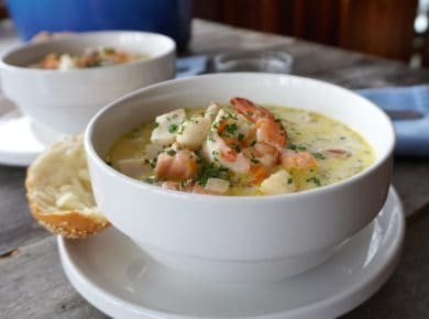 Creamy Seafood Chowder is one of our Best Soup Recipes Ever!