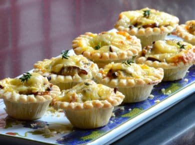 Party Food List - Little Cheesy Beef Tarts