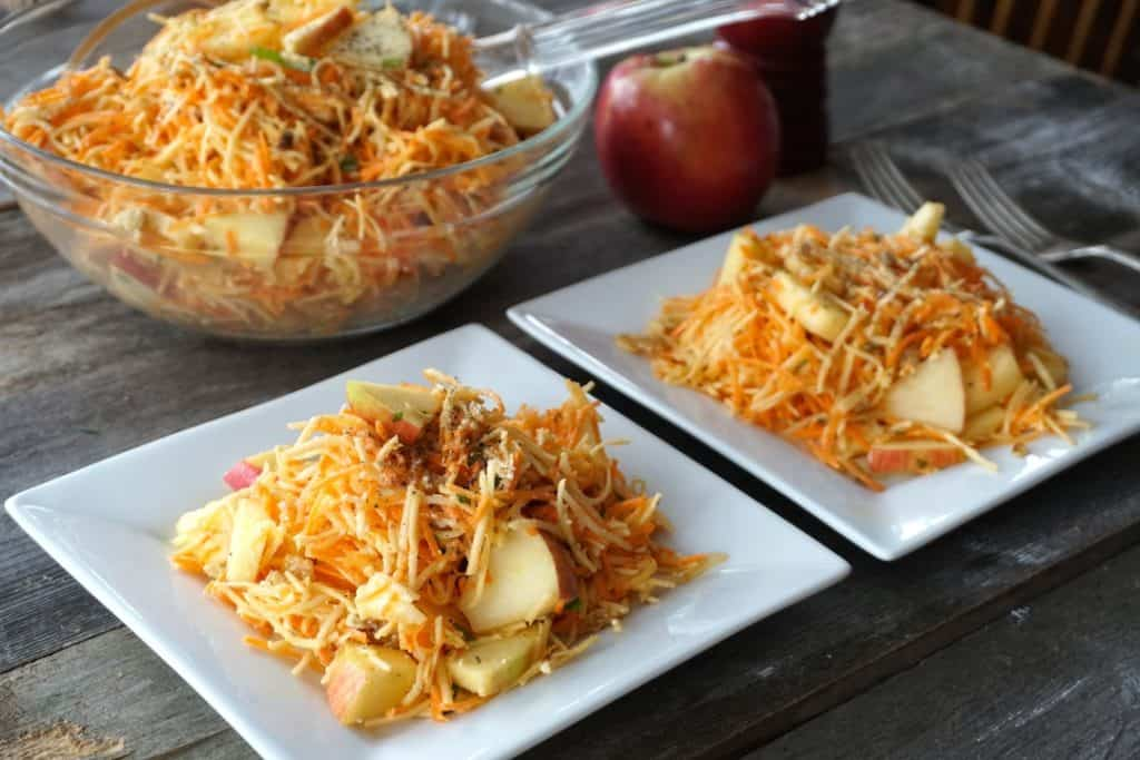 Two plates of delicious Crunchy Apple Salad