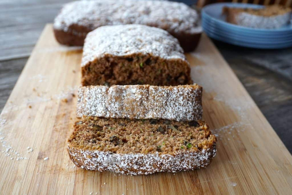 Spiced Zucchini Bread sliced