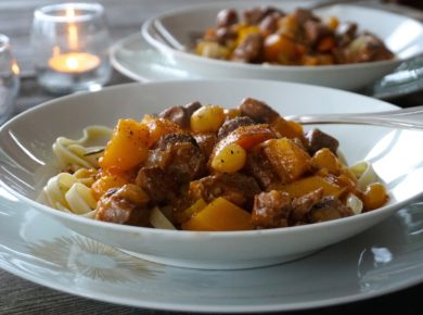 Easy Lamb Stew Recipe served in bowls for two guests