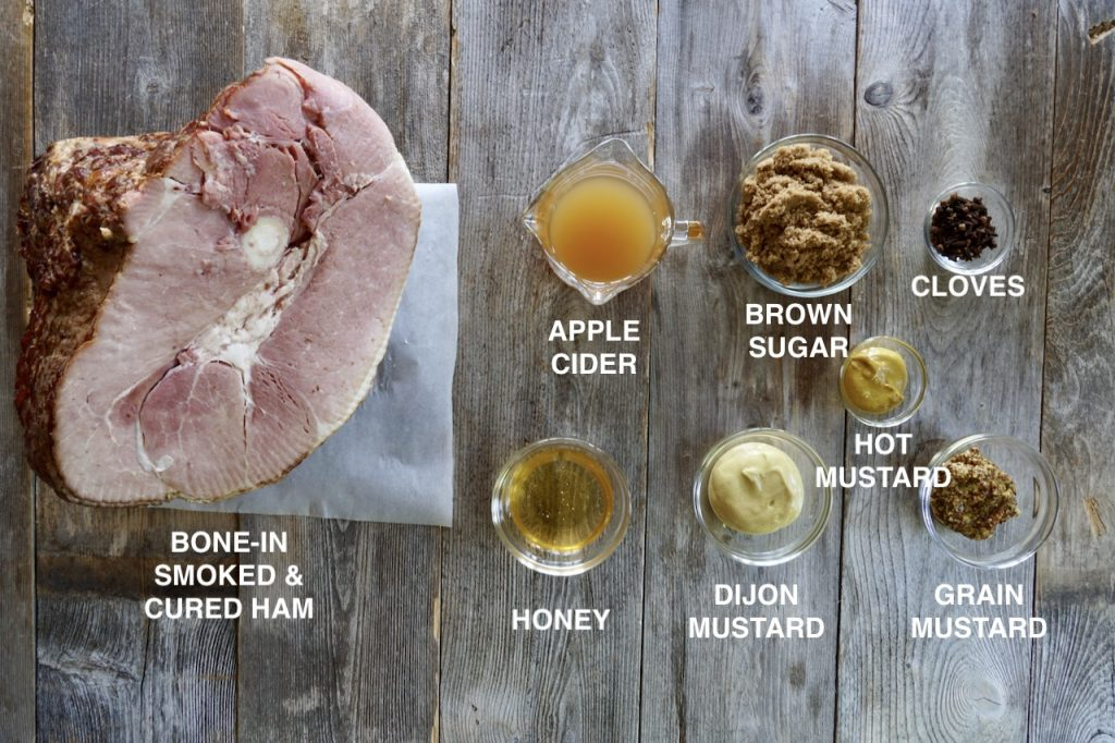 Ingredients for Glazed Oven-Baked Ham