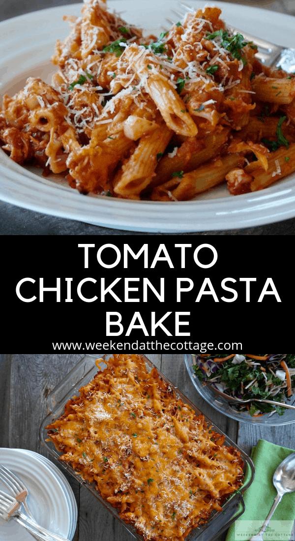 Tomato Chicken Pasta Bake