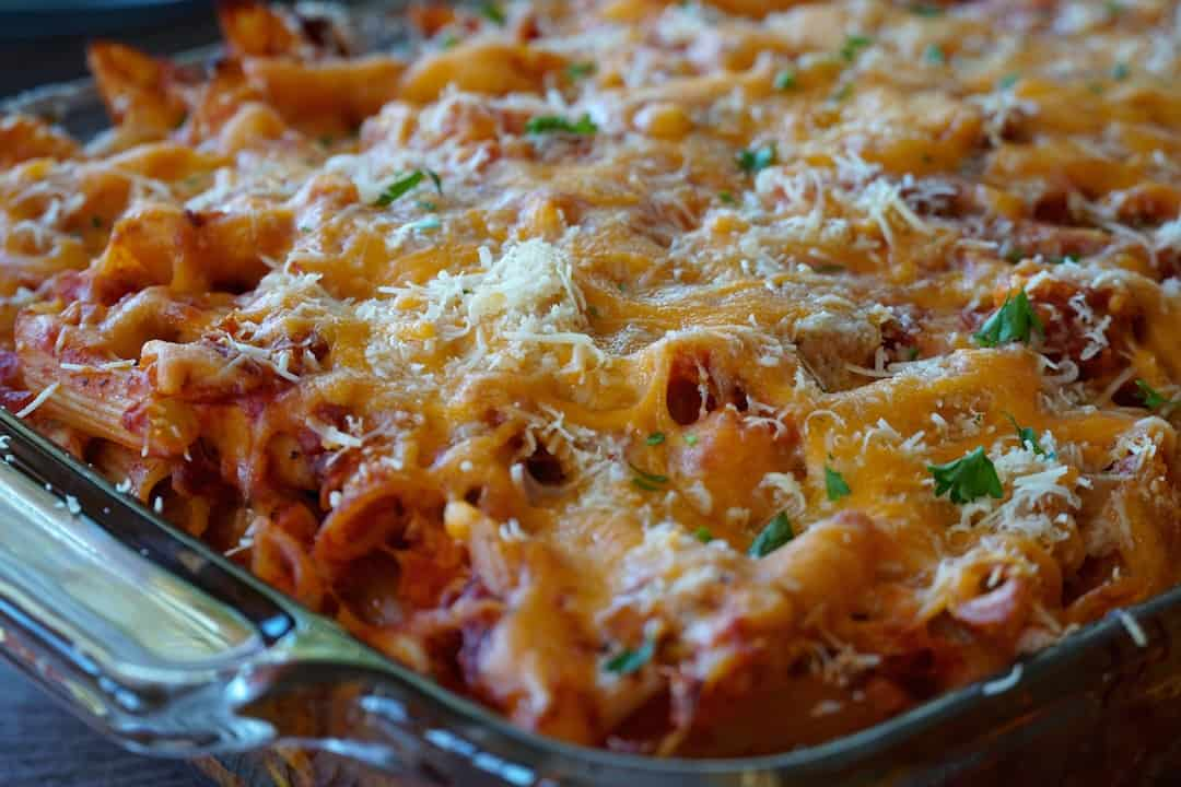Tomato Chicken Pasta Bake