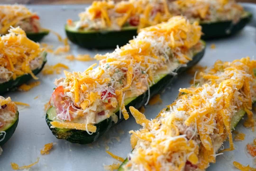 Tuna Zucchini Boats
