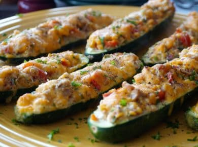 Ready to serve Tuna Zucchini Boats