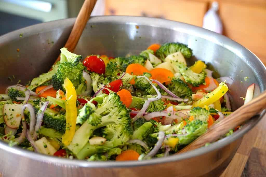 Giving The Best Broccoli Salad a toss