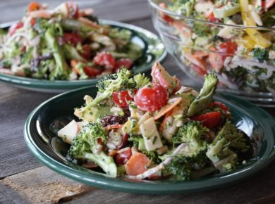 Plates of The Best Broccoli Salad