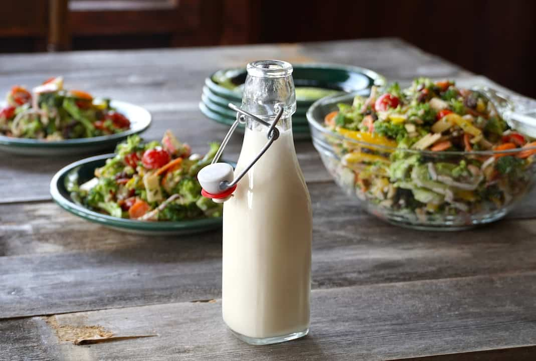 A creamy buttermilk and mayo dressing for the salad