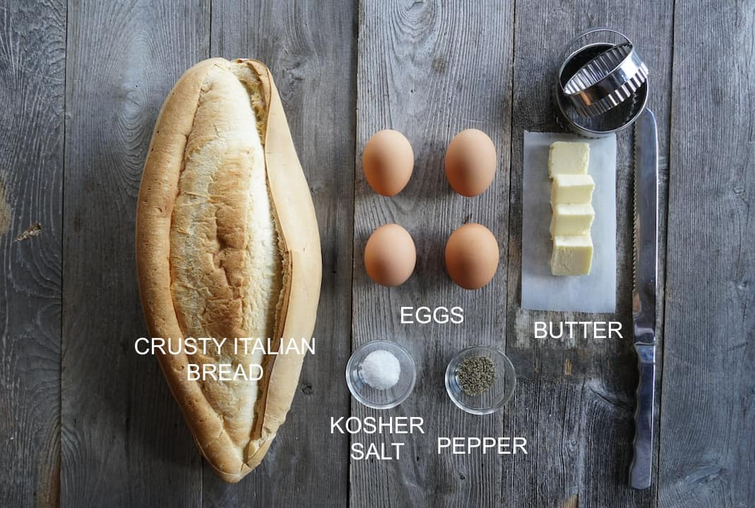 Ingredients for Egg In The Basket