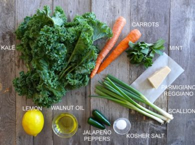 Kale, Carrol & Parmesan Salad