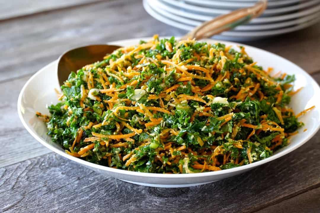 Kale, Carrot & Parmesan Salad