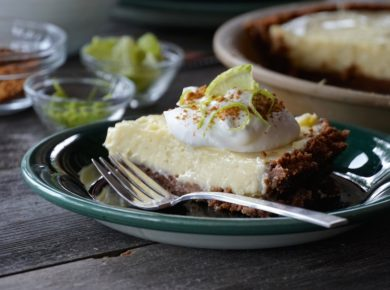 A slice of our Lime Pie Recipe
