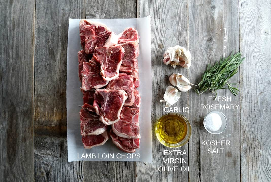 Ingredients for Grilled Lamb Loin Chops