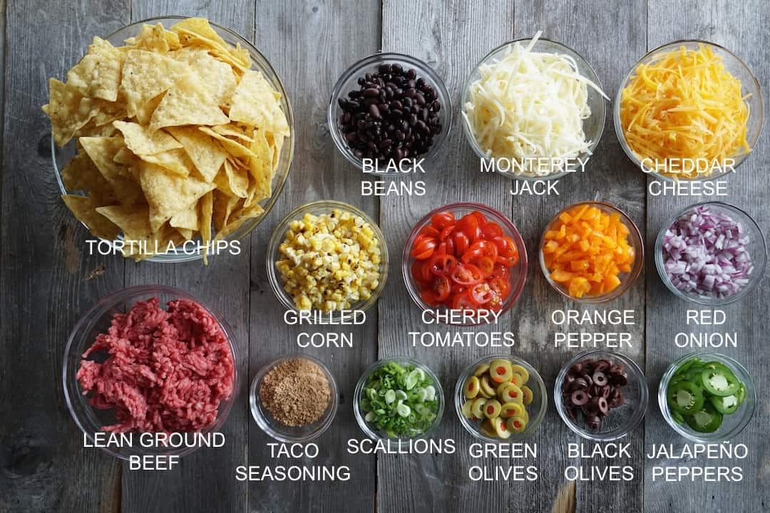 Ingredients for Oven-Baked Nachos