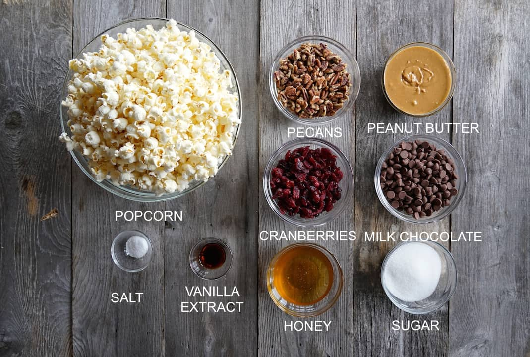 Ingredients for Peanut Butter Popcorn