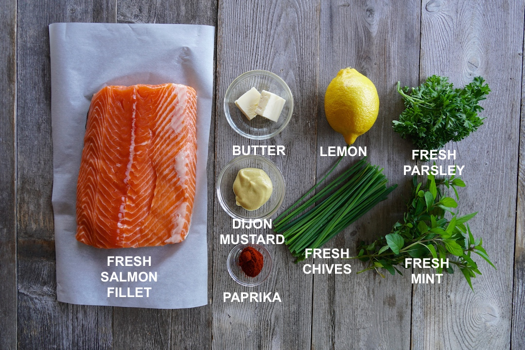Ingredients for Barbecued Salmon