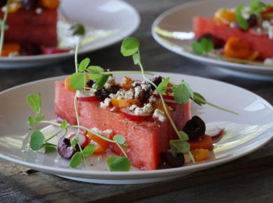 Grilled Watermelon plated