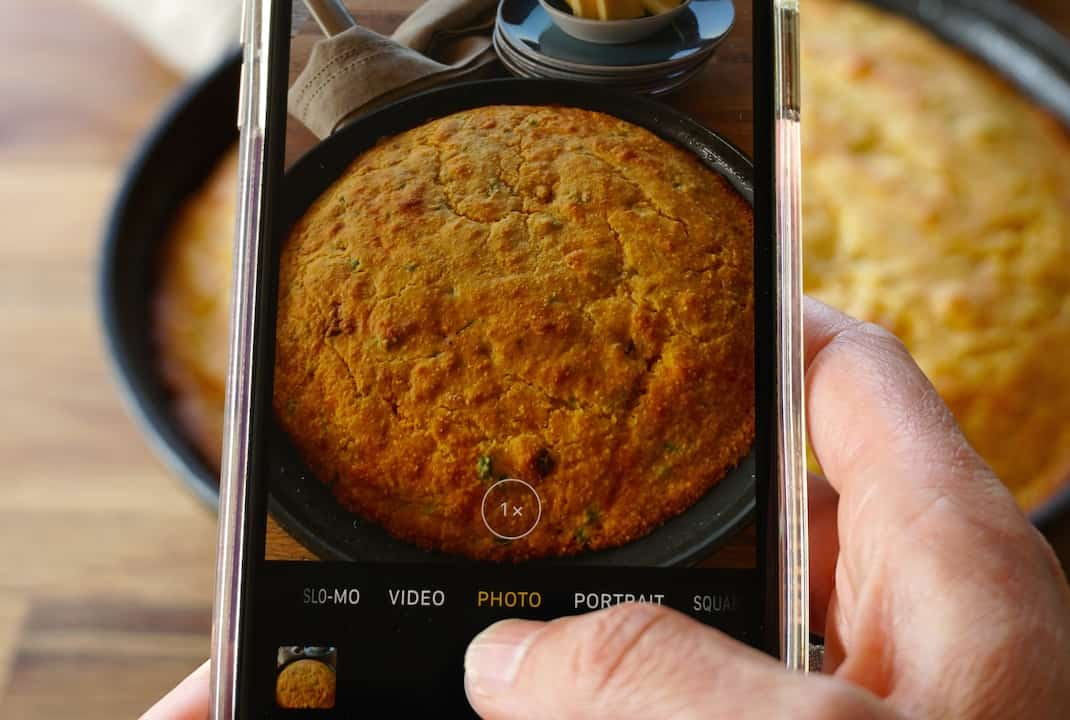 shooting hot skillet cornbread