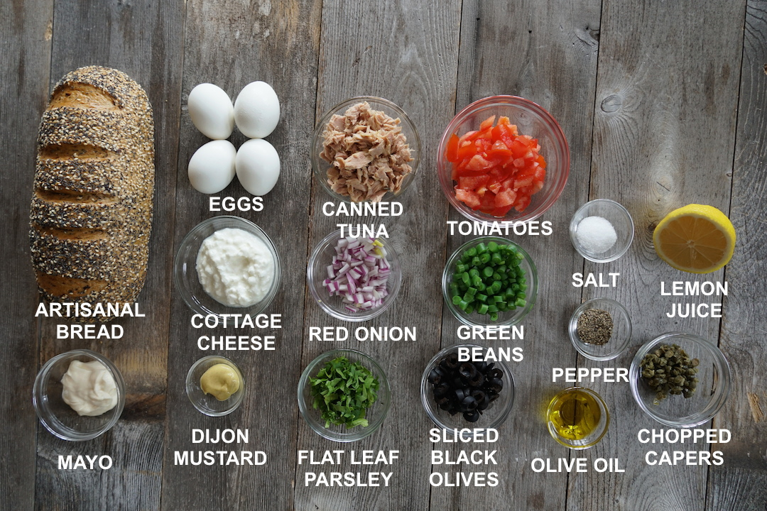 Ingredients for the Open-Faced Sandwiches