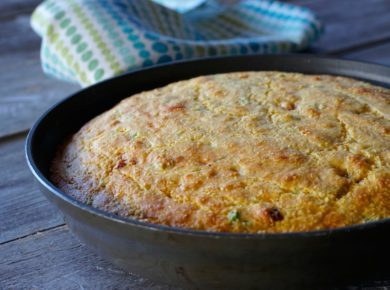 Skillet Cornbread Recipe fresh out of the oven