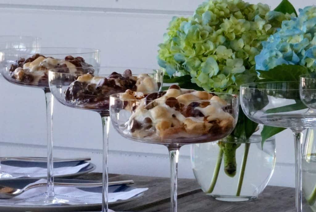 Oven-Baked S'Mores served in elegant coupe glasses