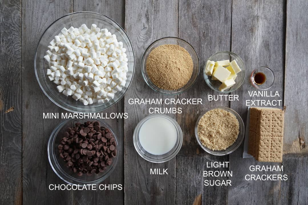 Ingredients for our Oven-Baked S'Mores