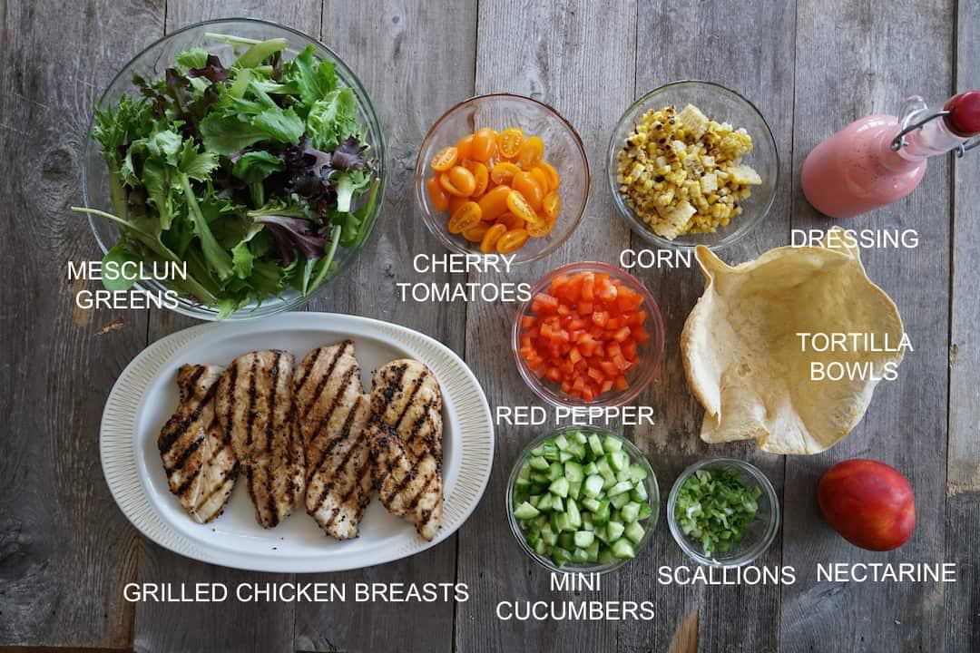Tortilla Bowl Salad