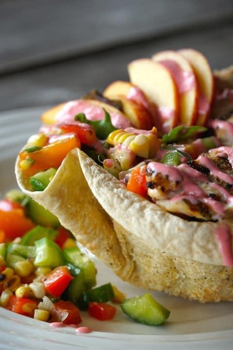 Pin for Tortilla Bowl Salad